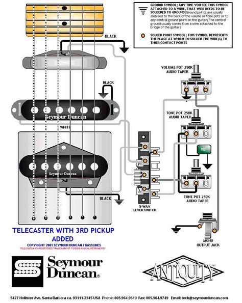 tele wiring diagram with a 3rd added telecaster