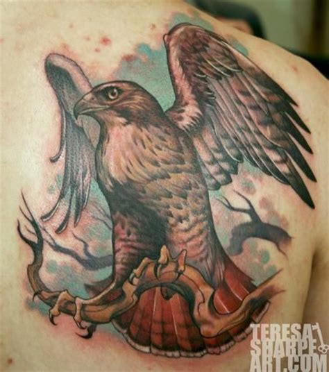 teresa sharpe red tail hawk tattoo teresa sharpe