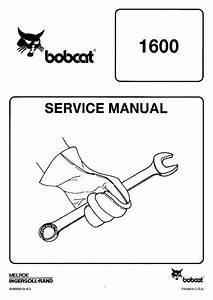 Bobcat 1600 Wheel Loader Service Manual