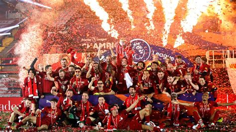 Liverpool lift English Premier League trophy for first ...