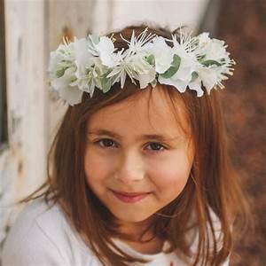 Couronne De Fleurs Mariage Petite Fille : couronne de fleurs blanche pour petite fille en c r monie colette bloom ~ Dallasstarsshop.com Idées de Décoration