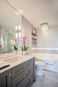 Grey vanity contemporary bathroom madison taylor design for Gray and white bathroom for your beautiful bathroom