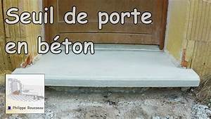 faire un seuil de porte en beton youtube With comment poser un seuil de porte