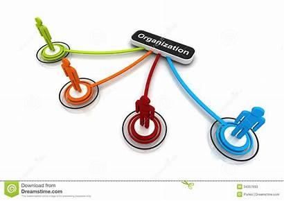 Organization Chart Connection Human Link Illustration 3d