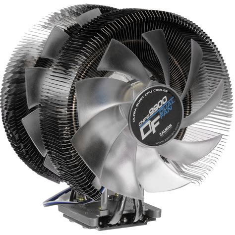 ultra quiet pc fans zalman usa cnps9900df dual fan ultra quiet cpu cooler