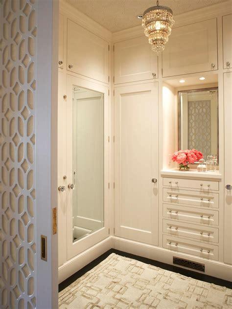 stylish walk  bedroom closets hgtv