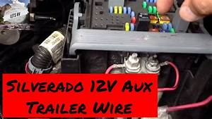 Trailer Power Wiring 2007 To 2013 Chevy Silverado 12 Volt Auxiliary