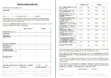 Wohnung Mieten Selbstauskunft by Mieterselbstauskunft Die Selbstauskunft F 252 R Mieter Kebut