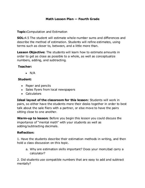 math lesson plan formal letter lesson plan formal letter template
