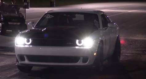 Fastest Dodge Challenger Hellcat In The World Pulls 9s