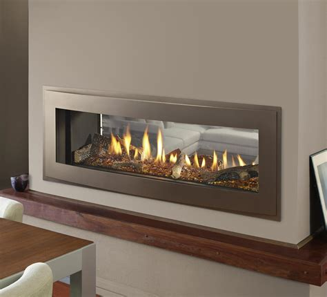 Gas Fireplaces Crave See Through Kastle Fireplace