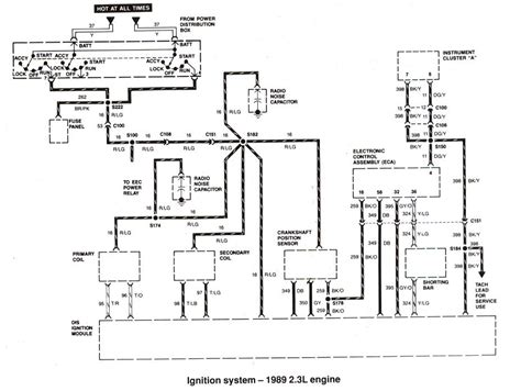 1989 Ford Ranger Starter Wiring Diagram by Ford Ranger Bronco Ii Electrical Diagrams At The Ranger