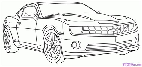 How To Draw A Camaro, Step By