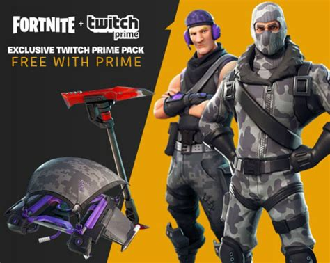 fortnite twitch prime loot revealed  ps xbox