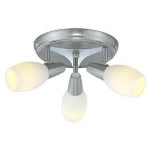 Light Fixtures Home Depot Ceiling by Eglo Parma 3 Head Matte Nickel Ceiling Lighting Fixture
