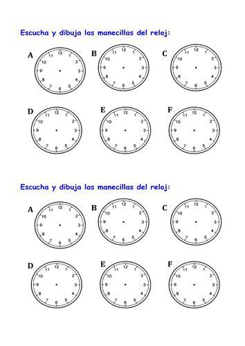 hora es homework spanish lesson  en la escuela