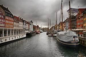 A Cloudy Harbor Of København, Denmark Editorial Image ...