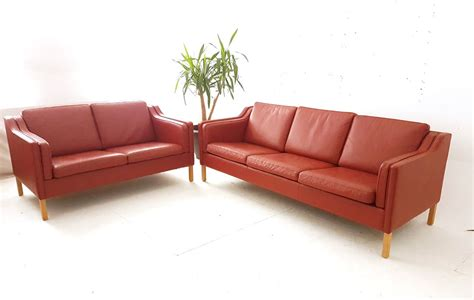 Compact 3 Seater Sofa by Leather Upholstered Compact 3 Seat Box Sofa
