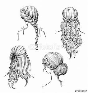 Drawn Hair Hairstyle Pencil And In Color Drawn Hair