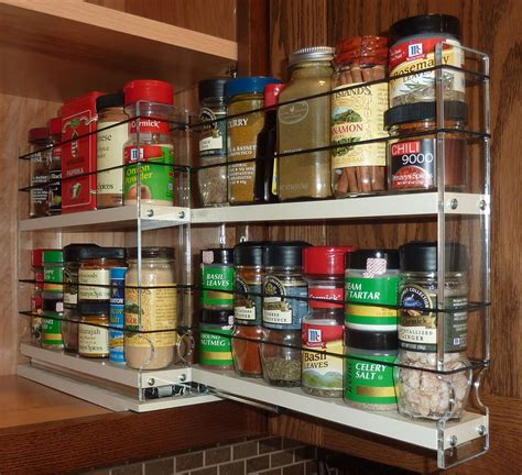 Cabinet Door Spice Racks Pull Out Spice Racks Spice