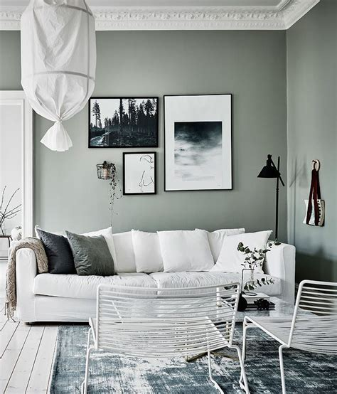 Green And Grey Living Room Walls by Green Grey Home With Character Room Green Apartment