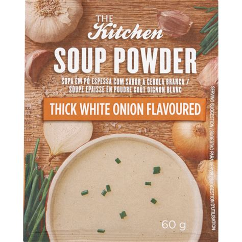 kitchen soup powder white onion flavoured  soups