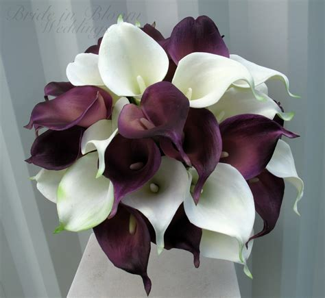 calla bouquet pictures calla lily wedding bouquet plum white real touch wedding flowers bride in bloom
