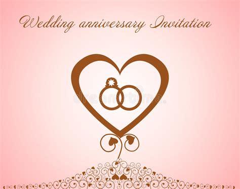 Wedding Anniversary Invitation Stock Vector