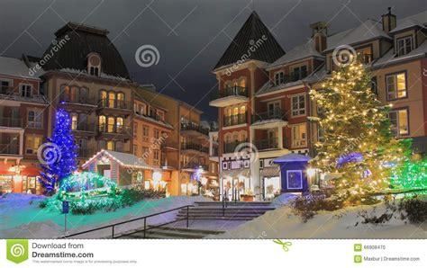 ski chalet resort christmas time stock photo image 66908470