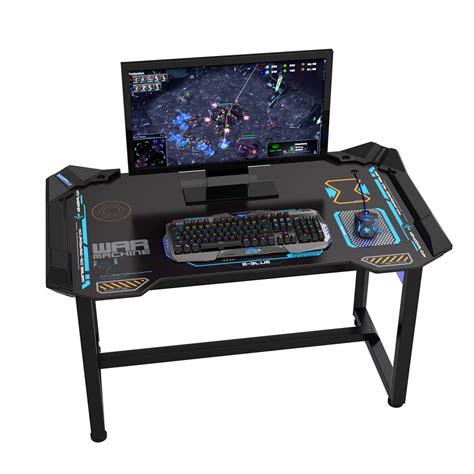 bureau gamer bureau gamer 1 2m noir informatique kge électronique