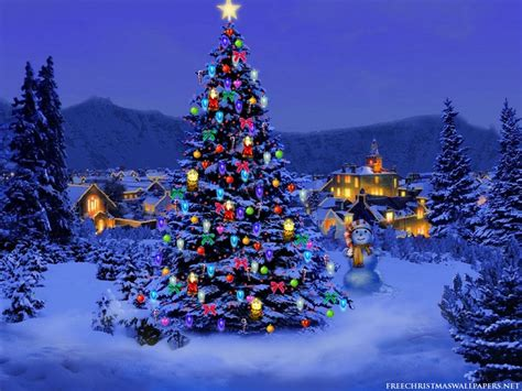 photo trick christmas tree wallpaper for desktop