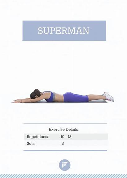 Superman Exercise Exercises Muffin Workout Rid Plan