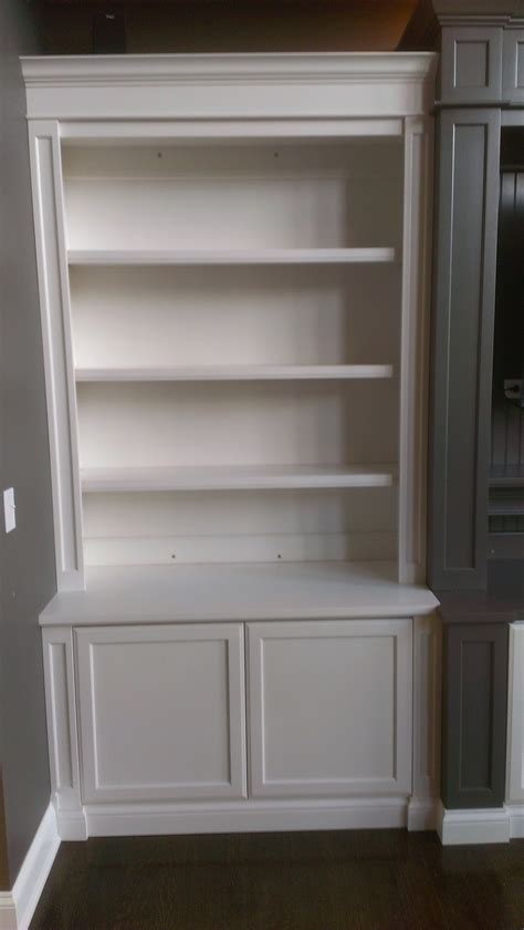 Bookcase With Cupboard Base by 15 Photos Bookshelves With Cabinet Base
