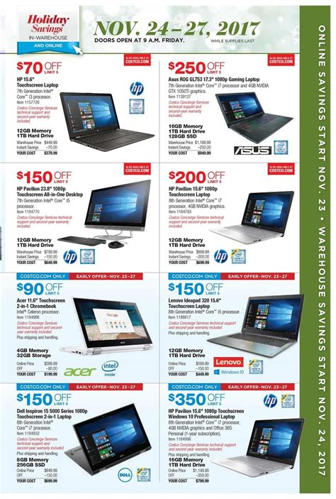 black friday table deals 2017 costco black friday ad 2017