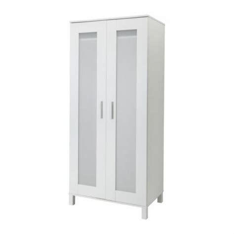 White Storage Closet Wardrobe by New Ikea Wardrobe Armoire White Closet Clothing Storage Ebay