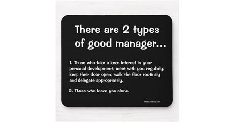types  good manager funny management quote mouse pad