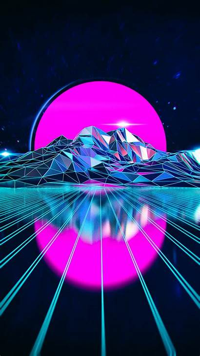 Vaporwave Neon Aesthetic Wallpapers Retro Crystalized Edgy
