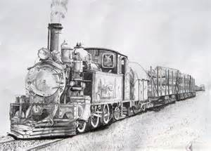 Train Pencil Drawing Sketch