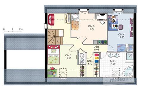 plan de maison contemporaine 4 chambres maison moderne de quatre chambres d 233 du plan de