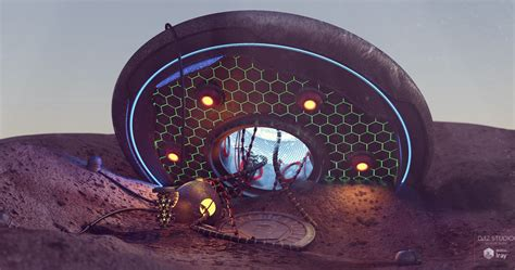 Download DAZ Studio 3 for FREE!: DAZ 3D - UFO Crash Site