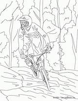Coloring Mountain Bike Popular Library Clipart sketch template