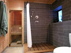 contemporary bathroom with shower and sauna hgtv With salle de bain avec sauna