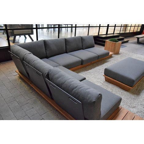 canapé teck jardin salon de jardin modulable en teck okavango 95027