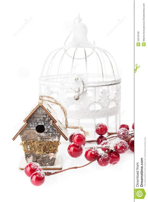 christmas decorationsbirdhouse  vintage bird cage