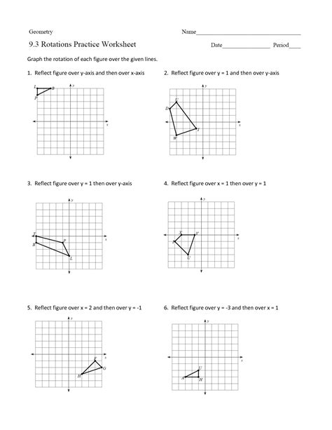 16 best images of rotations worksheet 8th grade geometry