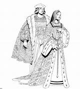 Coloring Medieval Renaissance Adults History Clothing Age Couple Start Moyen Template Colorier Templates Du Results Crayons sketch template