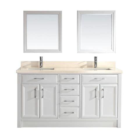 studio bathe vanity studio bathe calais 63 in vanity in white with marble