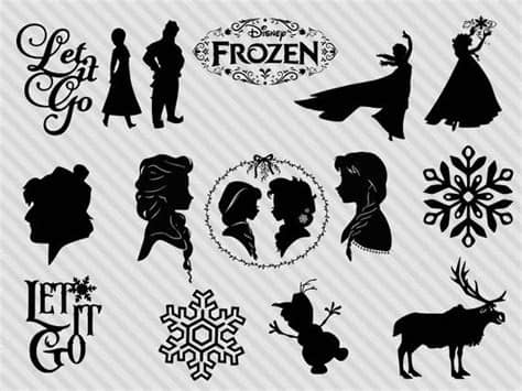 Svg cut files are a graphic type that can be scaled to use with the silhouette cameo or cricut. Disney's Frozen svg bundle frozen clipart frozen dxf | Etsy