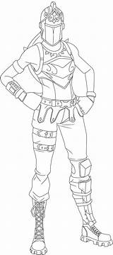 Knight Skin Fortnite Coloring Pages Renegade Raider Printable Prints sketch template