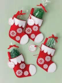 martha stewart crafts christmas felt treat bags stockings